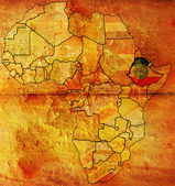 Etiophia on africa map — Stock Photo