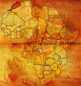 Morocco on africa map — Stock Photo