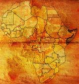 Somalia on africa map — Stock Photo