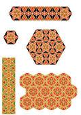 Byzantium mosaics vector — Stock Vector