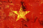 Some very old grunge flag of Vietnam — Stock Photo