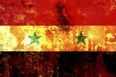 Some very old grunge flag of Syria — Stock Photo