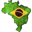 Stock Photo: Brazil map