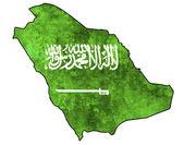 Saudi arabia map — Stock Photo