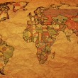 Stock Photo: Australia on map of world