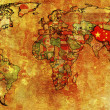 China on map of world — Stock Photo