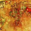 Stock Photo: China on map of world
