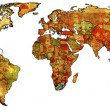 Stock Photo: Rson map of world