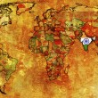 India territory on map of world — Stock Photo