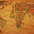 Rsa on paper map of world — Stock Photo