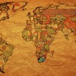 Rsa on paper map of world — Stock Photo #2472614
