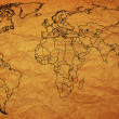 Stock Photo: Old political map of world