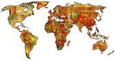 Rsa on map of world — Stock Photo