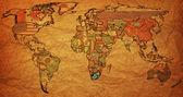 Rsa on paper map of world — Stock Photo