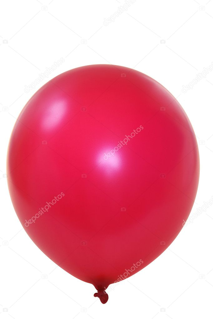 Red big balloon  isolated on white background (with clipping path) — Stock Photo #1722716