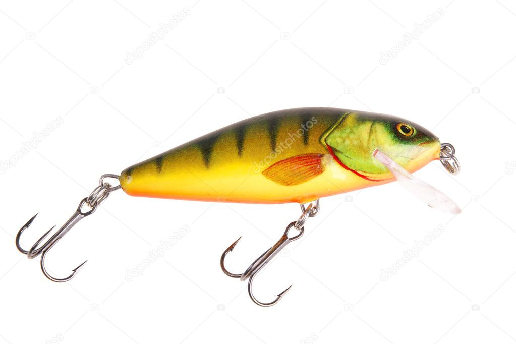 Fishing bait wobbler isolated on white with clipping path — Stock Photo #1725444