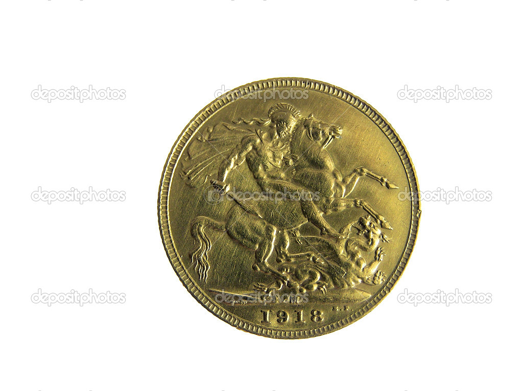 Gold coins isolated — Stock Photo #1747670