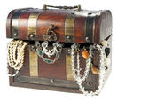 Antique decoration box — Stock Photo