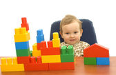 Cute baby with blocks — Stock Photo