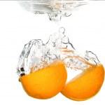Orange splashing — Stock Photo