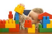 Cute baby with blocks — Stock Photo