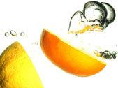 Lemons splashing — Stock Photo