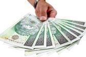 Give money — Stock Photo