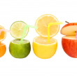 Colorful abstract fruit drink — Stock Photo