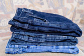 Pile trousers — Stock Photo