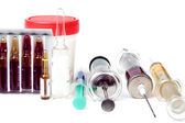 Syringes and ampoules — Stock Photo