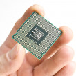 Processor in the hand — Foto de Stock