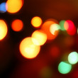 Blurry pattern christmas light - Stock Photo