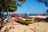Bali boats — Stock Photo