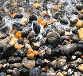 Sea Foam and Pebbles — Stock Photo
