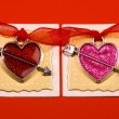 Red and pink hearts — Stock Photo
