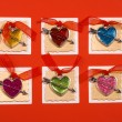 Hearts forms for holiday congratulation — Stock Photo