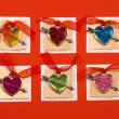 Hearts forms for holiday congratulation - Stock Photo