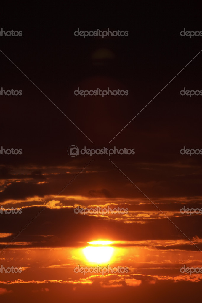 Sunset in dark sky — Stock Photo #2036407
