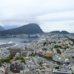 Port city in Norway — Stock Photo #2051405