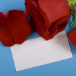Rose and note — Stock Photo