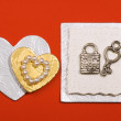 Accessories for congratulation card — Stockfoto