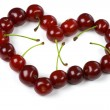 Heart from cherry on white — Stock Photo #2052076