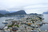 Port city in Norway — Stock Photo