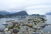 Port city in Norway — Stock Photo