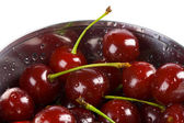 Cherries in a bowl — Stock Photo