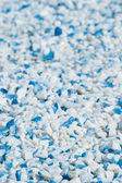 Blue and white gravel — Stockfoto