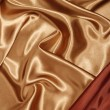 Stock Photo: Red gold silk with red corner