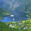 Geiranger fjord, Norway town — Stock Photo #2325281