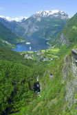Geiranger view to Atlantic ocean — Stock Photo