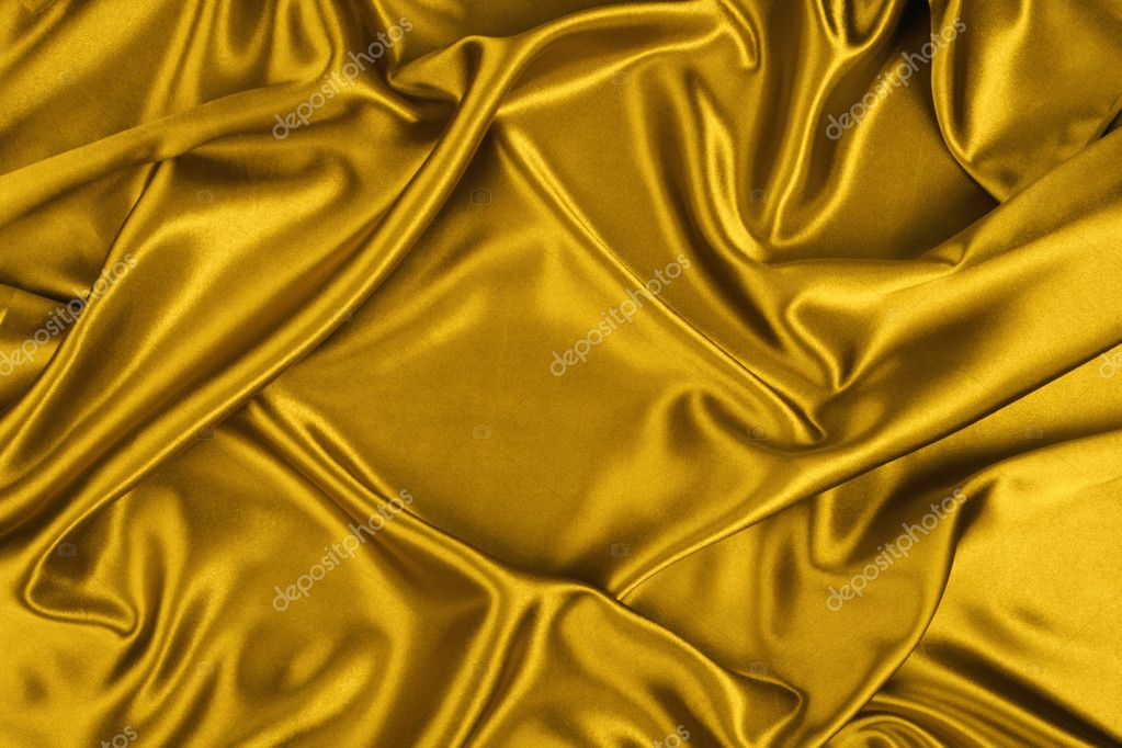 Gold silk, background, texture, color richness, glamour  Stock Photo #2325081